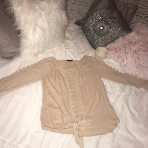 Nude color top